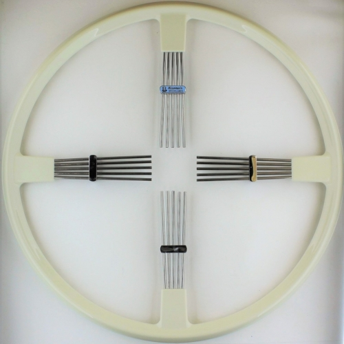 """Brooklands 4 spoke steering wheel - ivory rim 17""""/43cm"""