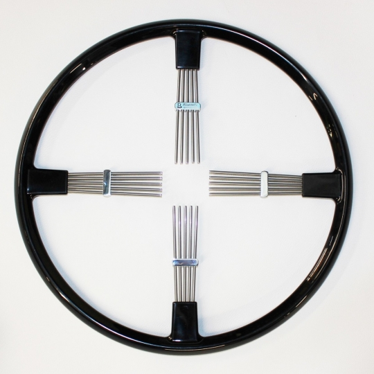 "Brooklands 4 spoke steering wheel - black rim 15.5""/39.5cm"