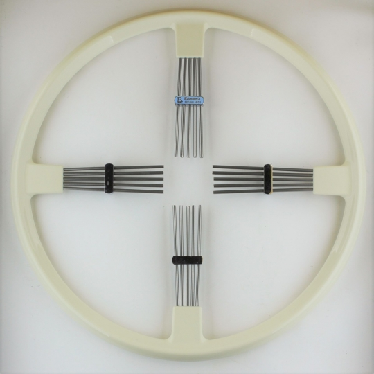 "Brooklands 4 spoke steering wheel - ivory rim 15.5""/39.5cm"
