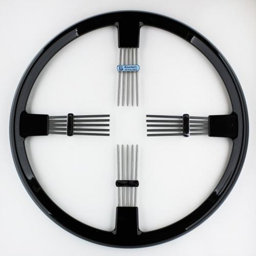 """Brooklands 4 spoke steering wheel - black rim 14""""/35.5cm"""