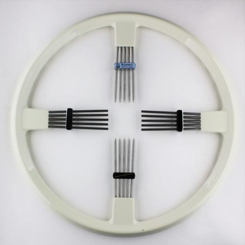 """Brooklands 4 spoke steering wheel - ivory rim 14""""/35.5cm"""