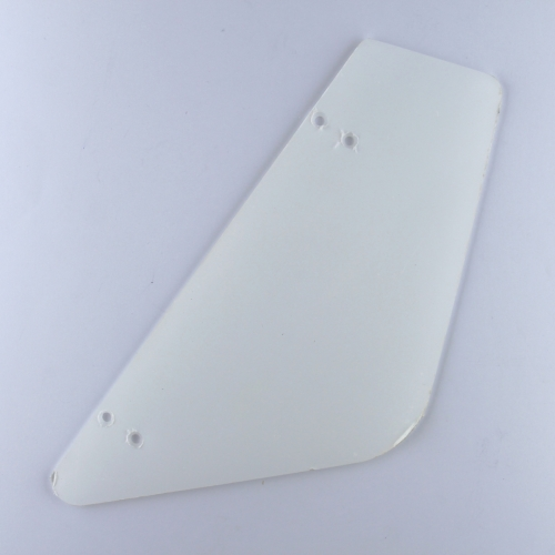 Wind deflector acrylic - drilled and countersunk (state side)